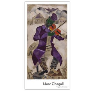 Marc Chagall: Green Violinist Poster