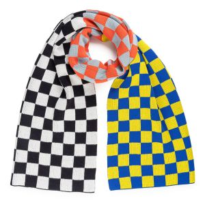 Checkerboard Scarf by Verloop, Yellow Black White