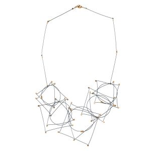 Gunmetal Cable Shapes Necklace by Meghan Patrice Riley